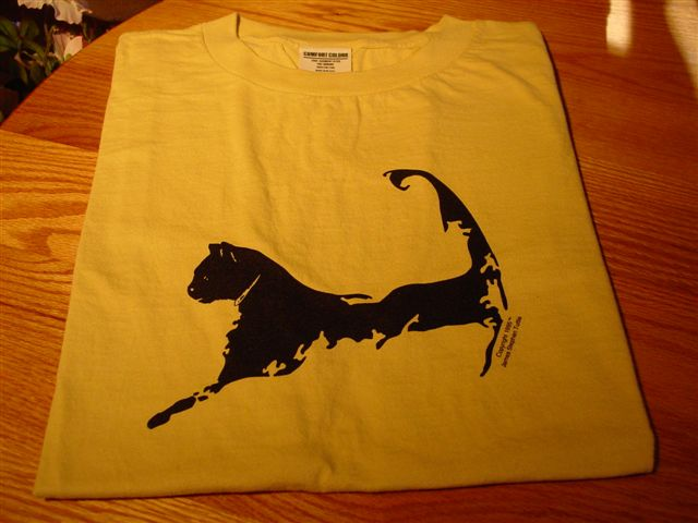 Cape Cat Map T-Shirt (Yarmouthport Yellow)