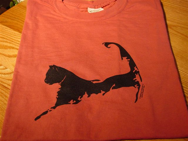 Cape Cat Map T-Shirt (Nantucket Red)