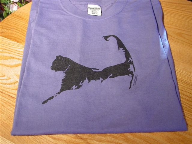 Cape Cat Map T-Shirt (Martha's Vineyard Purple)